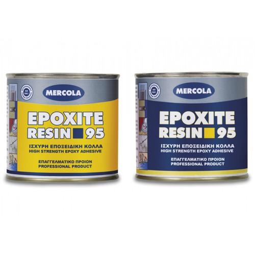 MERCOLA (A + B) ΚΟΛΛΑ EPOXITE RESIN 95 SET 1 Kg