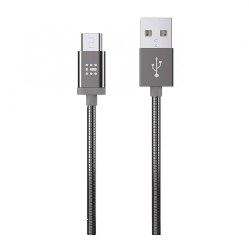 SAS ΚΑΛΩΔΙΟ ΦΟΡΤΙΣΗΣ GO CONNECT LUXURY USB TO Micro USB ΜΕΤΑΛΛΙΚΟ ΓΚΡΙ 1.2m