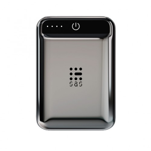 SAS POWERBANK GO RECHARGE LUXURY LINE 10.000 mAh ELECTROPLATED BLACK